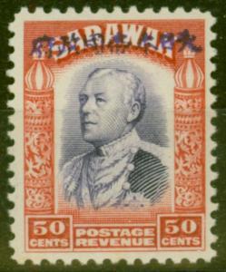 Sarawak 1942 Jap Occu 50c Violet & Scarlet SGJ20 Fine & Fresh Lightly Mtd Mint