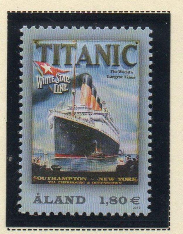 Aland Finland Sc 328 2012 Titanic stamp mint NH