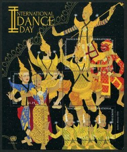 HERRICKSTAMP NEW ISSUES UNITED NATIONS Int'l Day of Dance 2016 Sheetlets