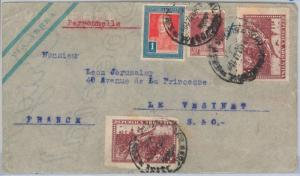 65393 - ARGENTINA - Postal History -  AIRMAIL COVER to  FRANCE 1932 - FLAGS