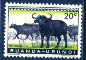 Ruanda Urundi 1959; Sc. # 138; */MH Single Stamp