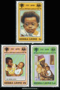 Sierra Leone MNH 451-3 International Year Of The Child SCV 1.50