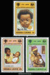 Sierra Leone MNH 451-3 International Year Of The Child  1979 SCV 1.50