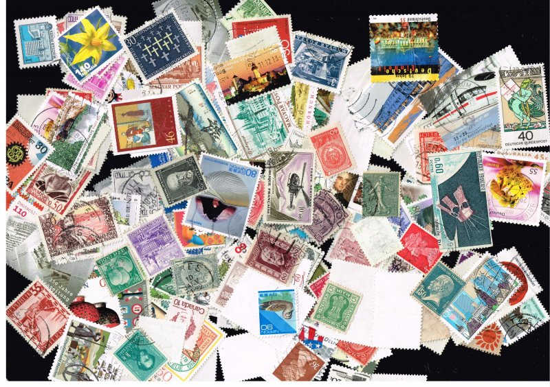 Worldwide Stamp 180-200 mixed stamps Collection lot