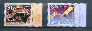 Yugoslavia 2002 Europa Circus set MNH