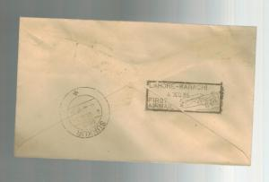 1934 Karachi to Lahore India FFC First FLight Cover  ATA Airmail