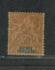 Fr. Guinea Sc#12 M/H/F-VF, Cv. $32.50