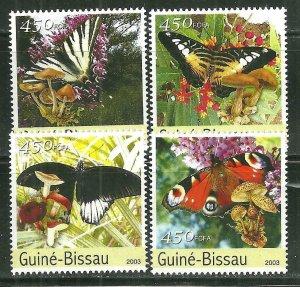 Guinea-Bissau MNH Set Of Butterflies 2003