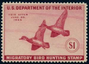 US Scott #RW10 Mint, VF/XF, Hinged, PSE (Graded 85)