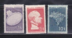 Brazil 496-498 Set MNG New York Worlds Fair (B)