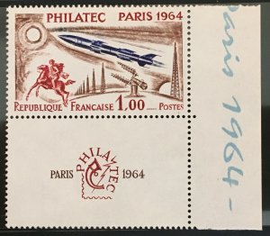 FRANCE PHILATEC 1964 with Tab And Side Margin - Yvert 1422 Scott 1100 MNH