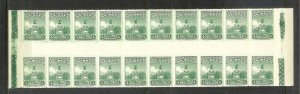 MEXICO Sc#653 Gutter Block Strip of 20 stamps MINT NEVER HINGED