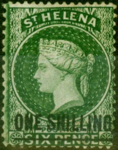 St Helena 1876 1s Deep Green SG26 Fine Mtd Mint