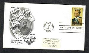 2044 Scott Joplin Artmaster FDC with address sticker