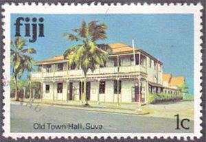 Fiji # 409 used ~ 1¢ Old Town Hall, Suva