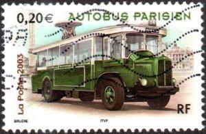 France 2980 - Used - 20c 1932 Renault TN6 Paris City Bus (2003) (cv $0.45)