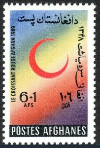 Afghanistan B90, MNH. Red Crescent Society, 1969