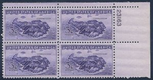 MALACK 925 F-VF OG NH (or better) Plate Block of 4 (..MORE.. pbs925