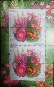 L) 2017 MOLDOVA, FLOWERS, NATURE, BOTANICAL GARDEN CHISINAU, FULL COLORS, MNH
