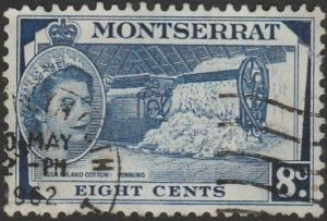 Montserrat, #135 Used  From 1953-57