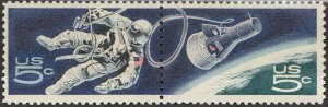 Stamp US Sc 1331-2 Pair 1967 Space Astronaut NASA MNH