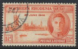 Northern Rhodesia  SG 46 SC# 46  Used / FU   see detail and scan