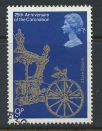 Great Britain  SG 1059 SC# 835 Used / FU with First Day Cancel - Coronation 2...