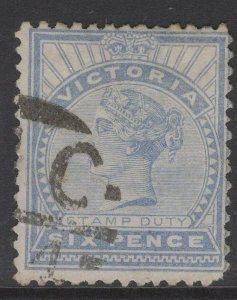 VICTORIA SG339 1896 6d DULL BLUE USED