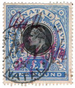 (I.B) Natal Revenue : Duty Stamp £1
