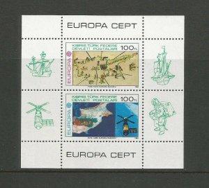 Cyprus Turkish Post, 1983 Europa Miniature Sheet Unmounted Mint SG MS 134