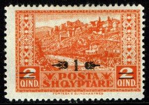 Albania #163  MOG HR - Gjirkaster Overprinted (1924)