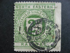 Great Britain revenue North Eastern Railway 2p used, check it out!