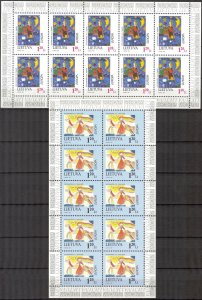 Lithuania 1997 Europa CEPT Tales and Legends 2 Sheets MNH
