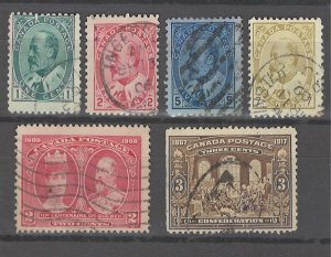 COLLECTION LOT # 3209 CANADA 6 STAMPS 1903+ CV+$18