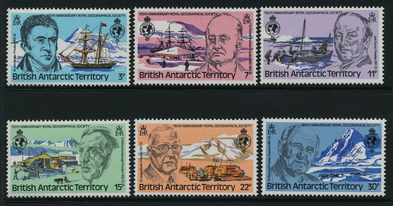 British Antarctic Territory 76-81 MNH Ships, Aircraft, Explorers, Dogs