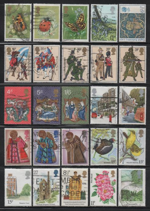 Great Britain ~ Lot of 90 Different ~ Used, MX ~ cv 18.00 +
