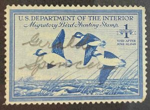 US Stamps #RW15 Used Federal Ducks #RW15A152