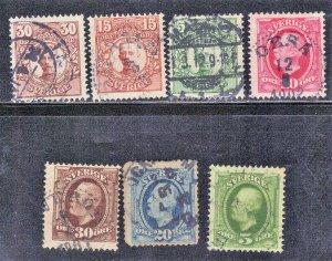 SWEDEN stamp lot #4  KING OSCAR II   SEE SCAN