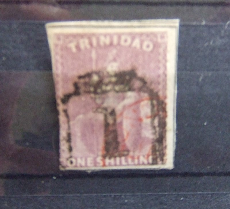 Trinidad QV 1859 1s lilac imperf SG29 CV £400