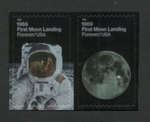 5399-5400 First Moon Landing US Postage Pair Mint/nh FREE SHIPPING