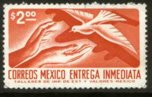 MEXICO E25, $2.00 1950 Def 9th Issue Unwmk Glazed paper MINT, NH. F-VF.