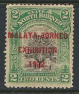 North Borneo  SG 255 SC# 137a MH   Malaya Exhibition  - See scan