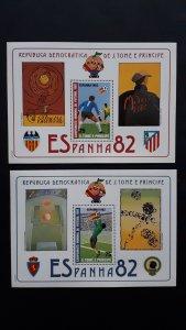 Sao Tome and Principe 1982. - Football - World Cup Spain 82 Bl 2x /2 ** MNH