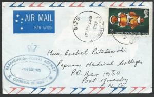SOLOMON IS 1975 commercial cover to PNG,  SASAMUNNGA POSTAL AGENCY.........12777