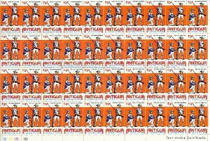 ANTIGUA 1976  MILITARY #424-25-26-27 CPLT SHEETS of  40...MNH...$64.00