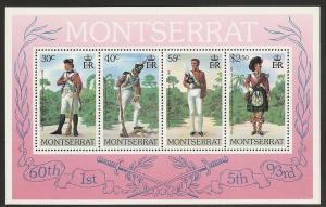 Montserrat 404a 1979 Uniforms s.s. NH