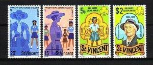 St. Vincent, Scott cat. 504-507. Girl Scouts Golden Jubilee issue.  LH. ^
