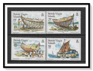 British Virgin Islands #450-453 Boat Building Set MNH