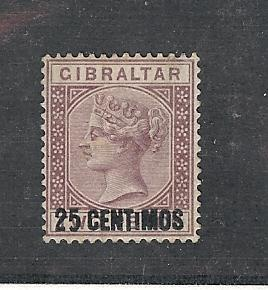 Gibraltar, 24a, Queen Victoria VF Single, **MNH**