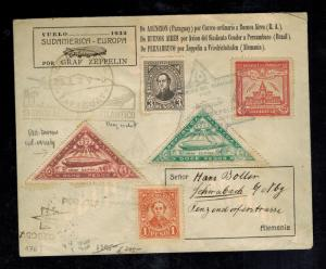 1932 Paraguay Graf Zeppelin Cover to Germany LZ 127